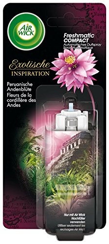 Air Wick Freshmatic Compact Automatisches Duftspray Nachfüller, Peruanische Andenblüte, 2er Pack (2 x 24ml)