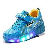 TeraSeven - Zapatillas deportivas infantiles, con luz LED intermitente..