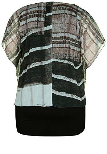 ... DORIS STREICH Damen Bluse CHECKED PATTERN schwarz-stein ...