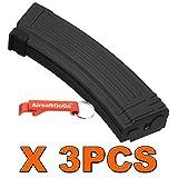 3PCS X AK 140rds Metall Mid-Cap Magazin für Softair Marui AK74 AK47 AK serie AEG - AirsoftGoGo Schlüsselanhänger Inklusive