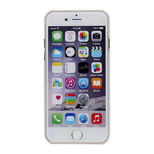 Schutzhülle iPhone 6S Hülle Case, Einhorn Uhr Muster Fließbar Sand Flüssigkeit Wasser Klar Transparent PC Kunststoff Hart Cover für Apple iPhone 6 6S 4.7 inch Hülle gold