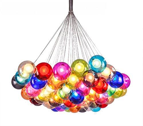 h ngeleuchte pendelleuchte farbige bubble ball lampe glas esszimmerlampe f r essplatz. Black Bedroom Furniture Sets. Home Design Ideas
