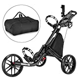 CaddyTek Golfwagen golf trolleys 3 Rad Golf Push cart leicht