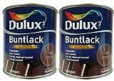2 x 500 ml Dulux Buntlack Glänzend für innen und außen 1 Liter Farbton Wählbar, Farbe:Cuba Braun
