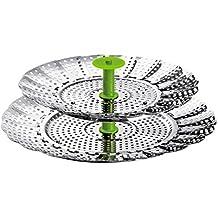 Kuhn Rikon 2025 - Rejilla para cocinar al vapor flexible, 14-22 cm, 2 en 1