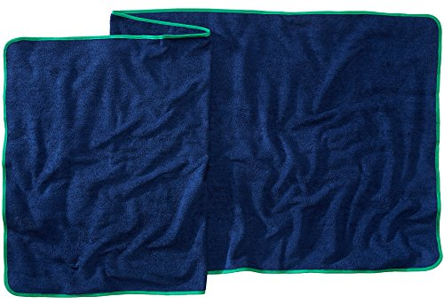 Sowel Strandtuch Saunatuch XXL, Flauschige Qualität 500 g/m², Badehandtuch aus 100% Baumwolle, 80 x 220 cm, Navy Grün