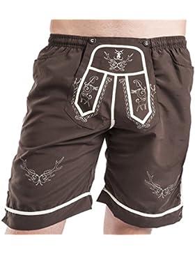 Trachten Badehose - Strandjäger - Badeshorts - Lederhose - Trachtenbadehose Shorts