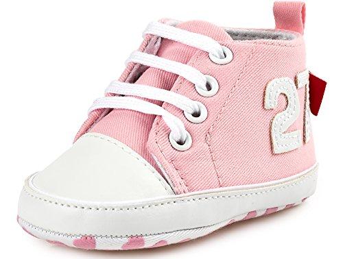Bobobaby Bebé Zapatilla Zapatos de Bebé BL-106 10,5 cm 3-6 Mes, Pink
