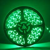 Grandview 1 X Grün 16.4 ft/5 M LED Strip-Light flexibel 3528 300SMD Wasserdicht Licht Streifen für Auto Stage Party Weihnachten Garten Schrank Heimwerker Haushalt Dekoration (DC-24 V)