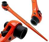 Ponteggio Chiave/chiave a cricchetto fissa impalcatura Podger/acciaio Erect 13mm x 17mm Hi Viz arancione finitura con rivestimento a polvere