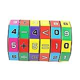Sonnena Spielzeug Baby Kinder Mathematik Zahlen Zauberwürfel Spielzeug Puzzle Spielzeug Spiel Geschenk Lernspielzeug Pädagogisches Geschenk für Toddler (6*9cm)