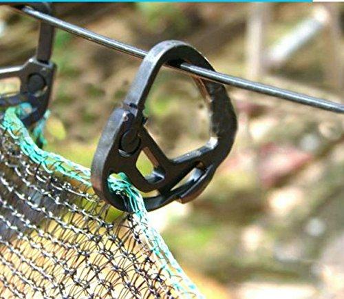 Tyfocus 50 pcs Jardin Serre les accessoires Abat-jour Noir Net Clips support Attache ombrage Système Crochet