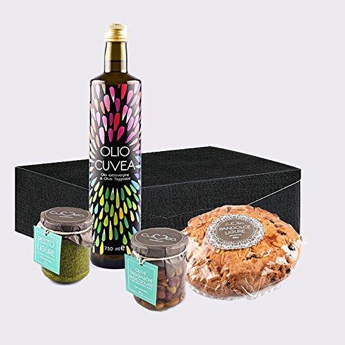 Cesto natalizio gourmet di prodotti tipici liguri artigianali