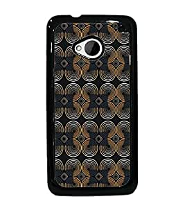 PrintDhaba Pattern D-5222 Back Case Cover for HTC ONE M7 (Multi-Coloured)