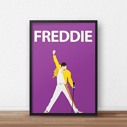 Freddie Mercury Poster / / Filmkunst - Chaplin Portrait - Retro - Queen - Music - Minimalist - Dorm Decor