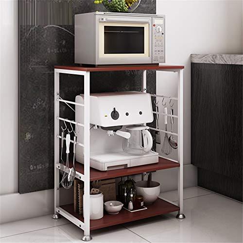 WMLD Küche Regal,Boden Multi-Layer-Rack Mikrowellenregal,kreativ Lagerung-Rack,küchenzub