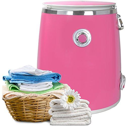 Syntrox Germany 3 Kg WM-380W Waschmaschine mit Schleuder Campingwaschmaschine Mini Waschmaschine (Pink)