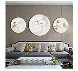 Runde Strassmalerei, voller Strass, moderner Minimalist, Schlafzimmermalereien@45 * 45 cm