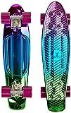 Ridge Neochrome Range Mini Cruiser Skateboard, Rosa/Blau/Grün, 22 Zoll
