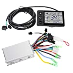 Tbest 24V-48V Brush Motor Speed Controller, 250W/350W Electric Motor Controller with Waterproof LCD Display Panel for E…