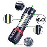 AmyGline LED Taschenlampe Blendung Zoombar Q5 + COB 14500 4 Modi Mini-Taschenlampe Laterne Tasche Taschenlampe