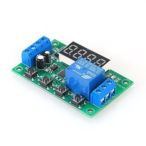 Fesjoy Delay Time Modul, Einstellbare DC 5A LED Verzögerung Relaismodul Verzögerung Timer Control Switch Board
