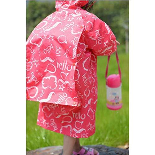 NHDYZ Regenmantel Wasserdichter Regenmantel Poncho Jacken im Freien Regenanzug Regenmantel für Kinder Kinder Schultasche, D, M