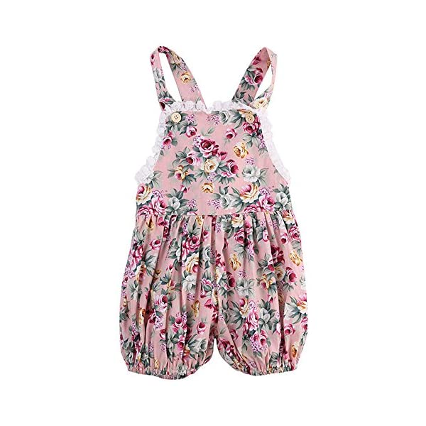 Overdose Baby Girls Floral Sleeveless Jumpsuit Outfits