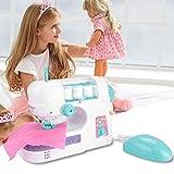 Simlug I Bambini fingono di Giocare a Giocattoli, Mini Macchina da Cucire elettrica educativa Giocattolo Interessante per Bambini Ragazze Bambini