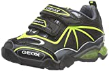 Geox J Light Eclipse 2 BOY a, Zapatillas Niños, Schwarz (Black/LIMEC0802), 32 EU