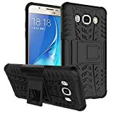 Wow Imagine™ Defender Tough Hybrid Armour Shockproof Hard PC + TPU with Kick Stand Rugged Back Case Cover for Samsung Galaxy J5 (2016) - Black
