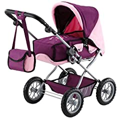 Idea Regalo - Bayer Design 15057 - Passeggino per Bambole Combinato Combi Grande Prugne