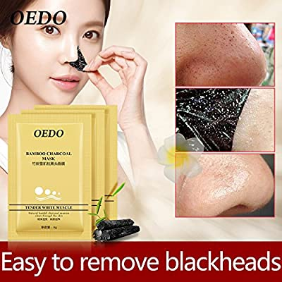 3pcs/lots OEDO Acne Treatment Blackhead Remover Face Black Mask Moisturizer Bamboo Charcoal Deep Clear Peel Off Black Face Mask by TOPQuality