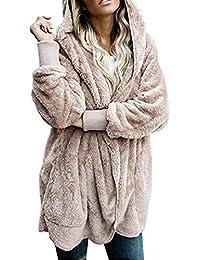 Otoño Invierno Mujer Casual Sudaderas con Capucha Calentar Chaqueta de Manga Larga Encapuchado Abrigos Suéter Jumper
