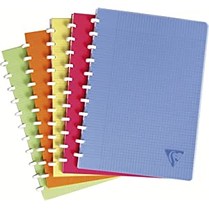 Clairefontaine Linicolor Clairing 328136C - Pack of 5 A4 Squared with Margin, 72 Sheets Assorted Colours