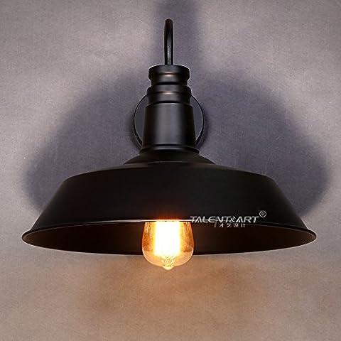 LIVY Loft de arte viento rural americano pasillo de luces industriales vintage Edison luces caf¨¦ bote estudio pared l¨¢mpara