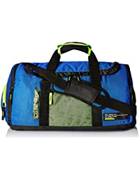 Gear Polyester 57 cms Royal Blue and Green Travel Duffel (METDFPSTD0103)