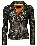 Maze Biker-Jacke mit Stickereien Blackridge Schwarz