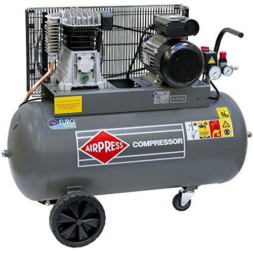 Airpress® Druckluft- Kompressor HL 375-100 (2,2 kW, max. 10 bar, 90 Liter Kessel) Stromanschluss 230 V - 1 3 Ps Elektromotor