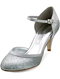 Silberne lackschuhe