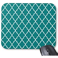 Tè verde e bianco Moroccan Trellis pattern mouse pad Great Office Accessory and Gift