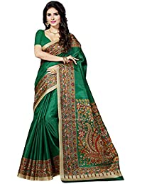 Rani Saahiba Art Silk Saree With Blouse Piece (SSKR3064_Green_One Size)