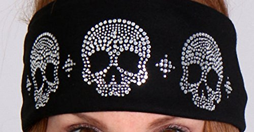 Bad Hair Skull Bling-Wrap Ladies biker Stirnband Redneck Kleidung