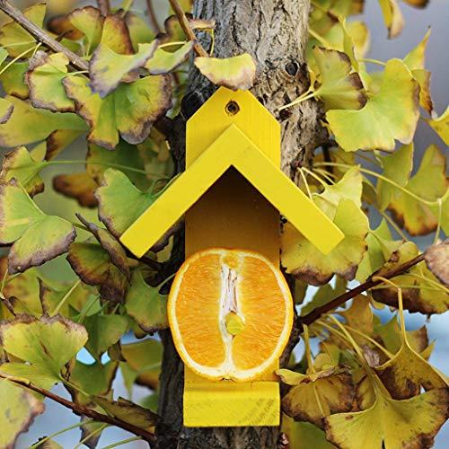JXXDDQ Mangeoire d'oiseaux d'observation d'oiseaux de pavillon d'oiseaux de Alimentation de Fruit, décoration extérieure de Jardin d'observation d'oiseaux (Couleur : Le Jaune)