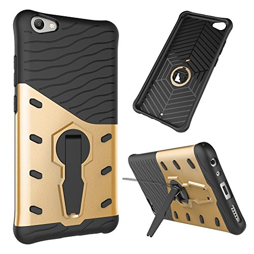 Für Vivo V5 (Y67) & V5 Lite (Y66) Armor Cover, 2 In 1 Durable TPU + PC Schwerer 360 ° Drehbarer Stand Dual Layer Shockproof Case Cover ( Color : Blue ) Gold