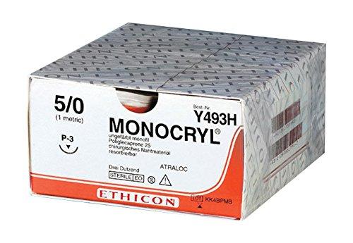 Topische Wundversorgung (Monocryl Y494H Topische antimikrobielle Substanzen, P3-Prime Naht material ungefärbt geflochten (36-er pack))