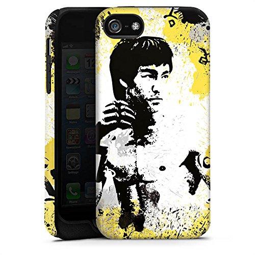 Apple iPhone X Silikon Hülle Case Schutzhülle Bruce Lee Kungfu Karate Tough Case matt