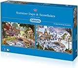 Gibsons Summer Days & Snowflakes Jigsaw Puzzle, 2x500 piece