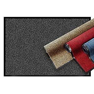 casa pura® Premium Fußmatte   Sauberlaufmatte für Eingangsbereiche   Fußabtreter mit Testnote 1,7   Schmutzfangmatte in 8 Größen als Türvorleger innen und außen   anthrazit - grau   90x150cm