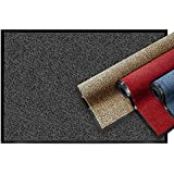Casa Pura Premium Doormat | Clean Run Mat for Entrance Areas | Doormat with Test Grade 1.7 | Dirt Trap Mat in 8 Sizes as Door Mat Inside and Outside | Anthracite - Grey, 60 x 90 cm